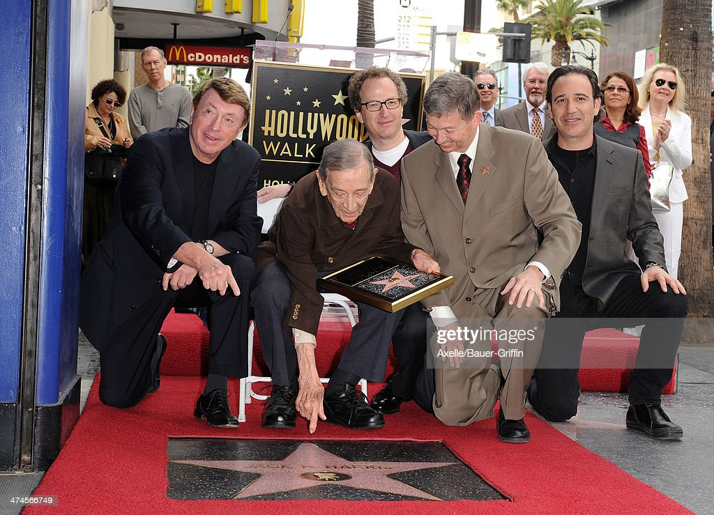 Larry Cohen Jack H Harris Brian Witten and Leron Gubler attend the ceremony honoring producer Jack H Harris with a Star on the Hollywood Walk of Fame...
