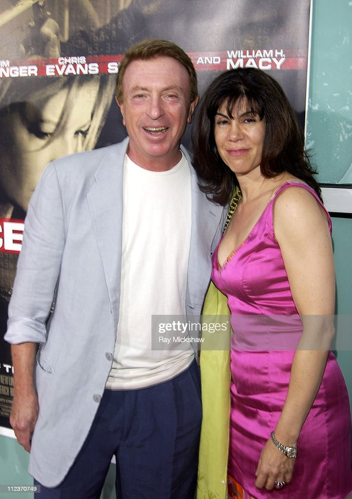 Larry Cohen writer and Cynthia Cohen during 'Cellular' New Line Cinema Premiere Red Carpet at Cinerama Dome in Los Angeles California United States