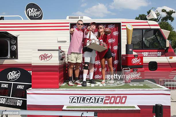 Larry Culpepper and fans attend the Dr Pepper 2016 College Football Roadshow Advocare Classic at ATT Stadium on September 3 2016 in Arlington Texas