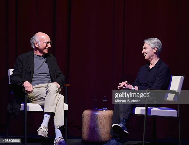 Larry David And David Steinberg In Conversation presented by Citi at The Theatre at Ace Hotel Downtown Los Angeles on September 28 2014 in Los...
