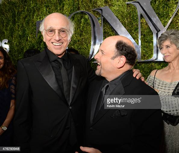 Larry David and Jason Alexander attend the 2015 Tony Awards at Radio City Music Hall on June 7 2015 in New York City