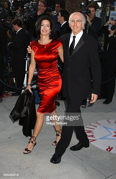 Larry David and wife Laurie during 2005 Vanity Fair Oscar Party Arrivals at Mortons in Los Angeles California United States