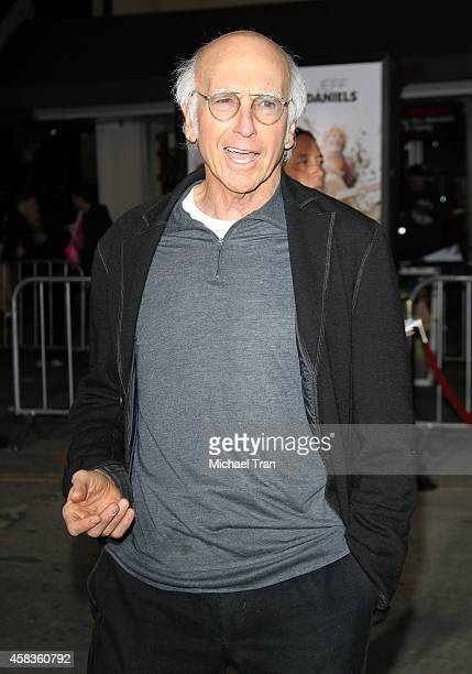 Larry David arrives at the Los Angeles premiere of 'Dumb And Dumber To' held at Regency Village Theatre on November 3 2014 in Westwood California