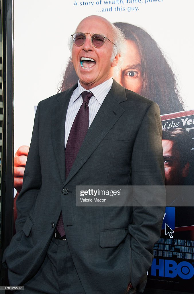 <a gi-track='captionPersonalityLinkClicked' href=/galleries/search?phrase=Larry+David&family=editorial&specificpeople=125184 ng-click='$event.stopPropagation()'>Larry David</a> arrives at the Premiere Of HBO Films' 'Clear History' at ArcLight Cinemas Cinerama Dome on July 31, 2013 in Hollywood, California.