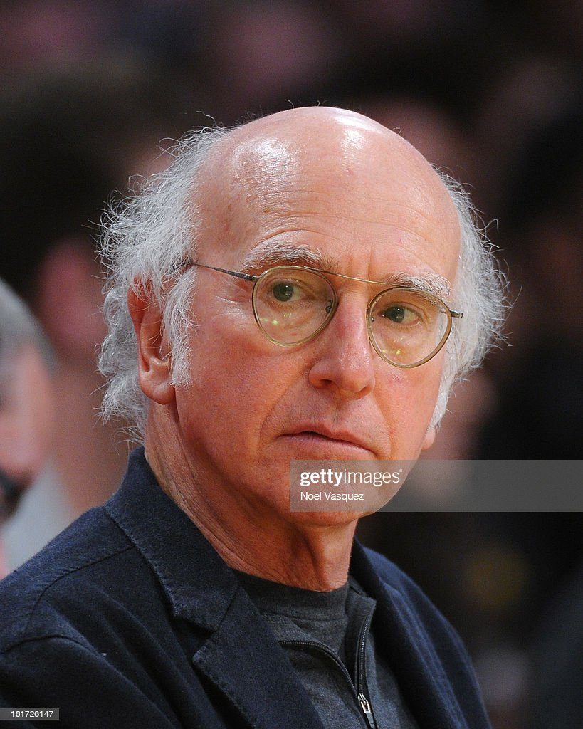 <a gi-track='captionPersonalityLinkClicked' href=/galleries/search?phrase=Larry+David&family=editorial&specificpeople=125184 ng-click='$event.stopPropagation()'>Larry David</a> attends a basketball game between the Los Angeles Clippers and the Los Angeles Lakers at Staples Center on February 14, 2013 in Los Angeles, California.