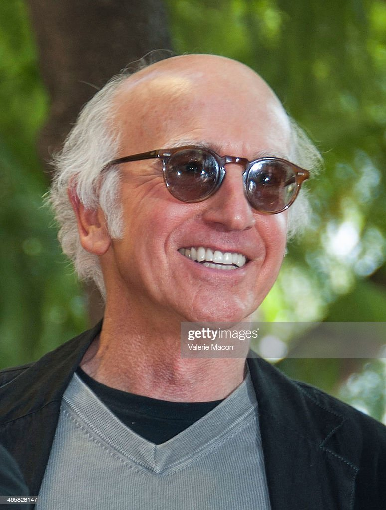 <a gi-track='captionPersonalityLinkClicked' href=/galleries/search?phrase=Larry+David&family=editorial&specificpeople=125184 ng-click='$event.stopPropagation()'>Larry David</a> attends the ceremony Honoring Cheryl Hines on THe Hollywood Walk of Fame on January 29, 2014 in Hollywood, California.