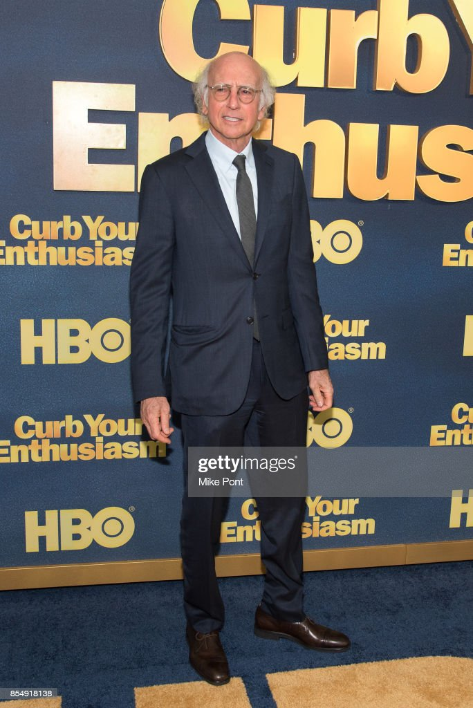 Larry David attends the 'Curb Your Enthusiasm' season 9 premiere at SVA Theater on September 27, 2017 in New York City.