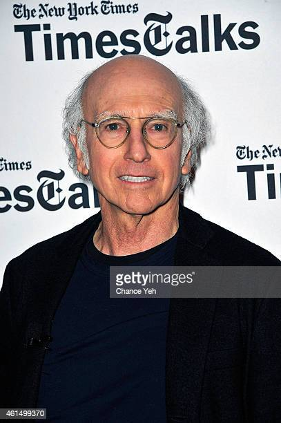 Larry David attends TimesTalks Presents A Conversation With Larry David at TheTimesCenter on January 13 2015 in New York City