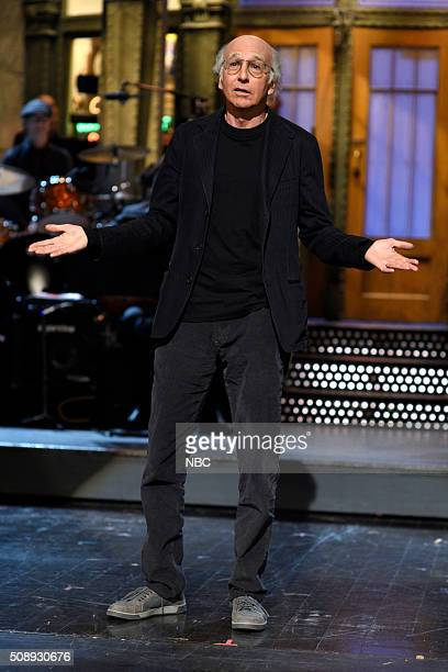 LIVE 'Larry David' Episode 1695 Pictured Larry David during the monologue on February 6 2016