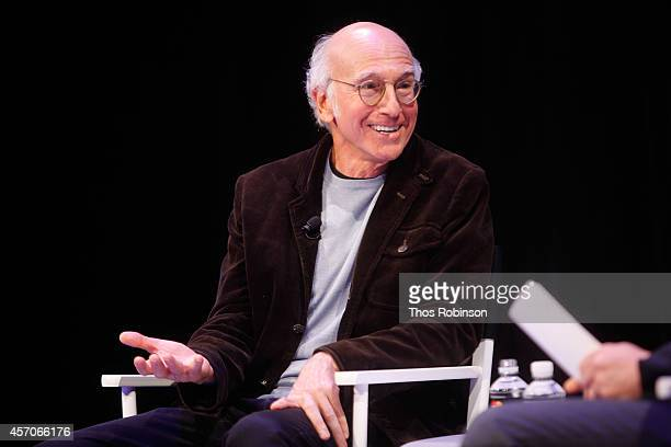 Larry David participates in a conversation with David Remnick during the New Yorker Festival on October 11 2014 in New York City
