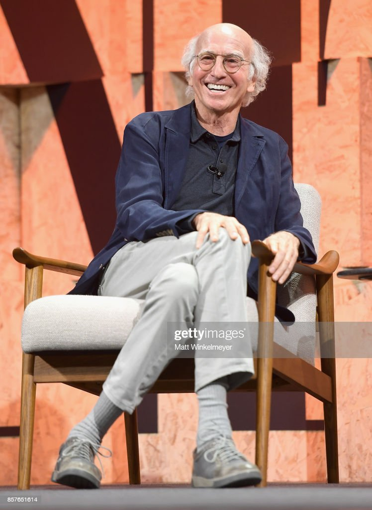 Larry David speaks onstage during Vanity Fair New Establishment Summit at Wallis Annenberg Center for the Performing Arts on October 4, 2017 in Beverly Hills, California.