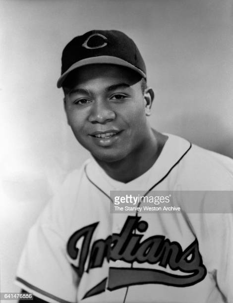 Larry Doby centerfielder of the Cleveland Indians poses for a portrait during his rookie season in 1947