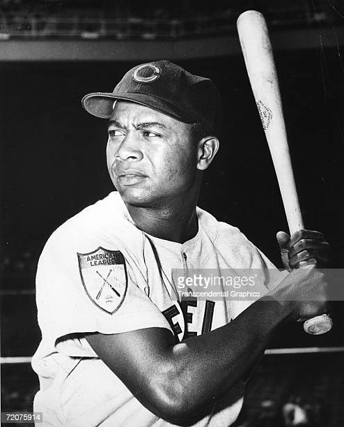 Larry Doby Cleveland Indians left fielder poses before a game at Municipal Stadium in Cleveland in 1951