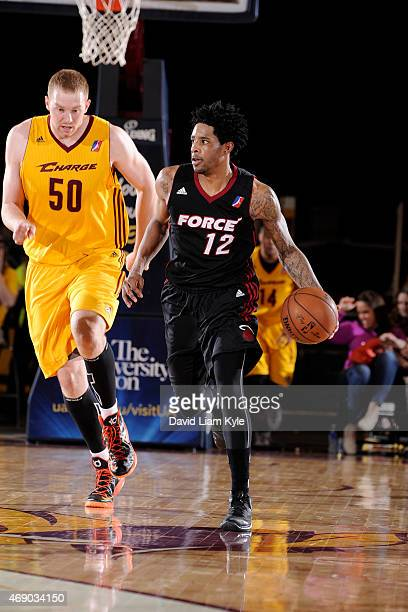 Larry Drew II of the Sioux Falls Skyforce handles the ball against the Canton Charge at the Canton Memorial Civic Center on April 8 2015 in Canton...