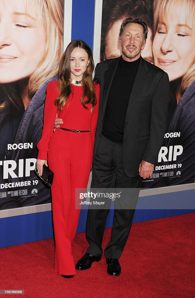 Larry Ellison and guest arrive at the 'The Guilt Trip' - Los Angeles Premiere at Regency Village Theatre on December 11, 2012 in Westwood, California.