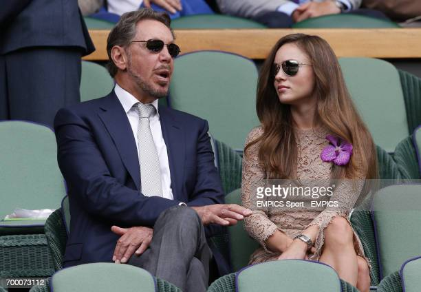 Larry Ellison and Nikita Kahn in the Royal Box on Centre Court