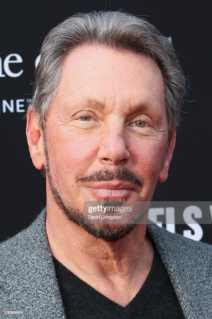 Larry Ellison arrives at the 3rd Biennial Rebels with a Cause Fundraiser on May 11, 2016 in Santa Monica, California.