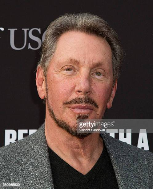 Larry Ellison attends the 3rd Biennial Rebels with a Cause Fundraiser at Barker Hangar on May 11 2016 in Santa Monica California