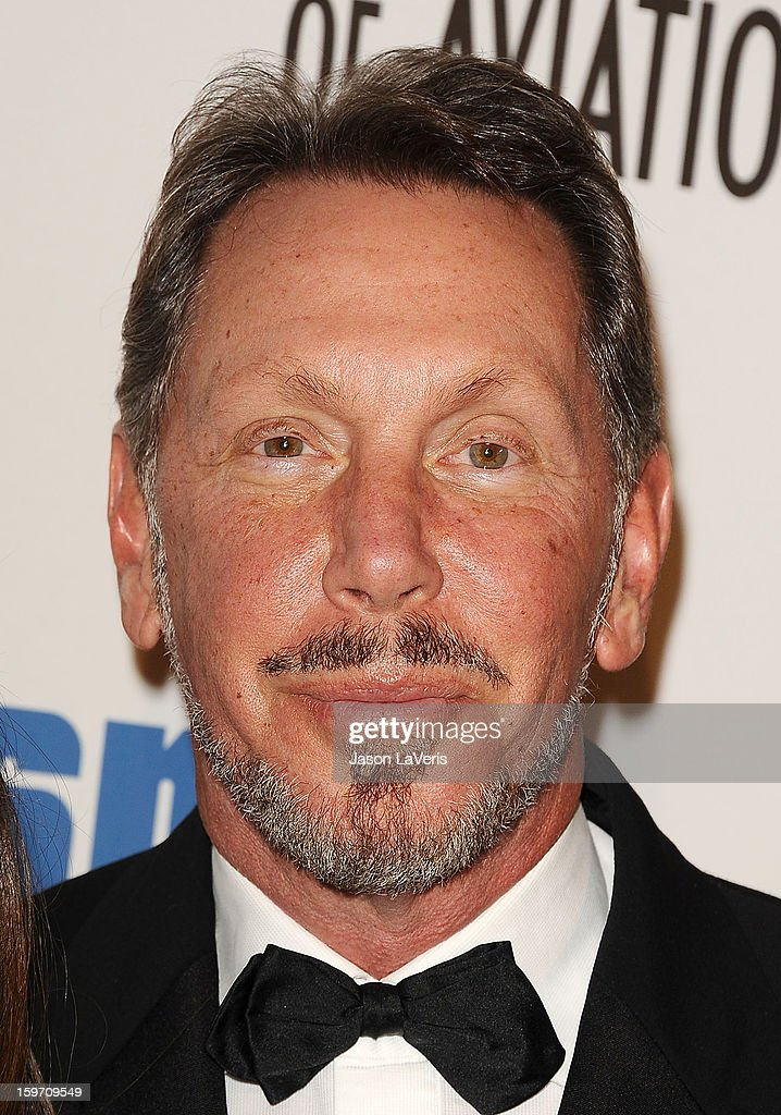 <a gi-track='captionPersonalityLinkClicked' href=/galleries/search?phrase=Larry+Ellison&family=editorial&specificpeople=221302 ng-click='$event.stopPropagation()'>Larry Ellison</a> attends the Living Legends of Aviation Awards at The Beverly Hilton Hotel on January 18, 2013 in Beverly Hills, California.