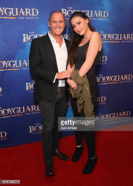 Larry Emdur and daughter Tia Emdur arrive ahead of opening night of The Bodyguard The Musical at Lyric Theatre Star City on April 27 2017 in Sydney...