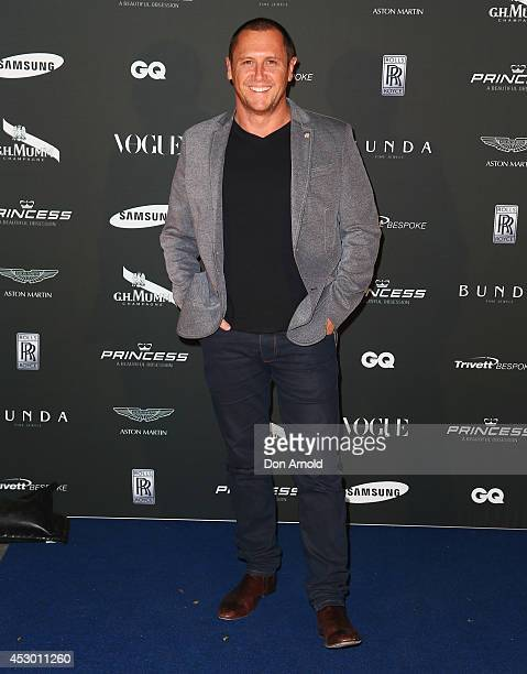 Larry Emdur attends the Princess Yachts launch evening at Rose Bay Marina on August 1 2014 in Sydney Australia