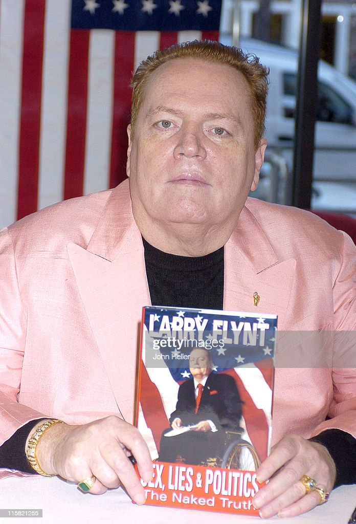 """Larry Flynt Signs his New Book """"Sex, Lies And Politics: The Naked Truth"""""""