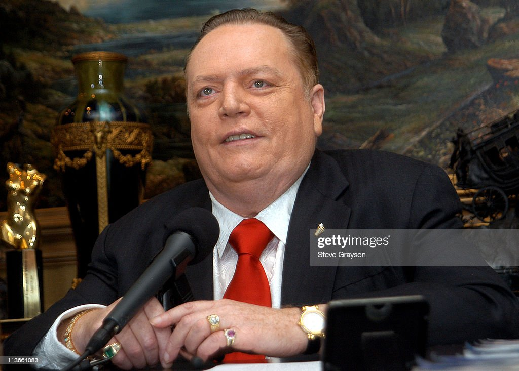 Larry Flynt during Publisher Larry Flynt Announces His Official Run ...