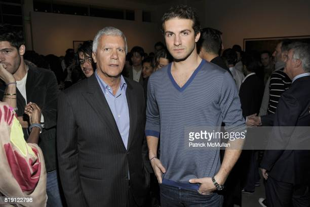 Larry Gagosian and Stavros Niarchos attend LARRY GAGOSIAN hosts the ANDREAS GURSKY Opening Exhibition at GAGOSIAN GALLERY at Gagosian Gallery on...