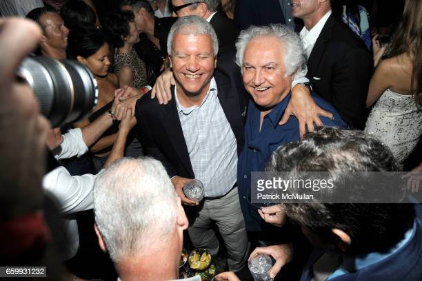 Larry Gagosian and Tony Shafrazi attend Party at WALL Hosted by VITO SCHNABEL STAVROS NIARCHOS ALEX DELLAL at WALL at the W SOUTH BEACH on December 3...