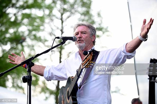 Larry Gatlin of the Gatlin Brothers performs onstage during the ACM Party For A Cause Festival at Globe Life Park in Arlington on April 18 2015 in...