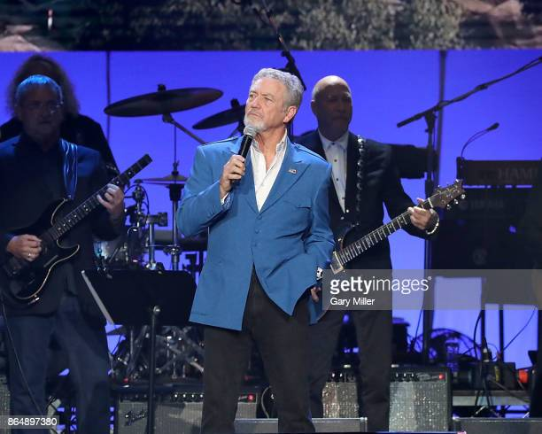 Larry Gatlin performs in concert during the 'Deep From The Heart One America Appeal Concert' at Reed Arena on October 21 2017 in College Station Texas