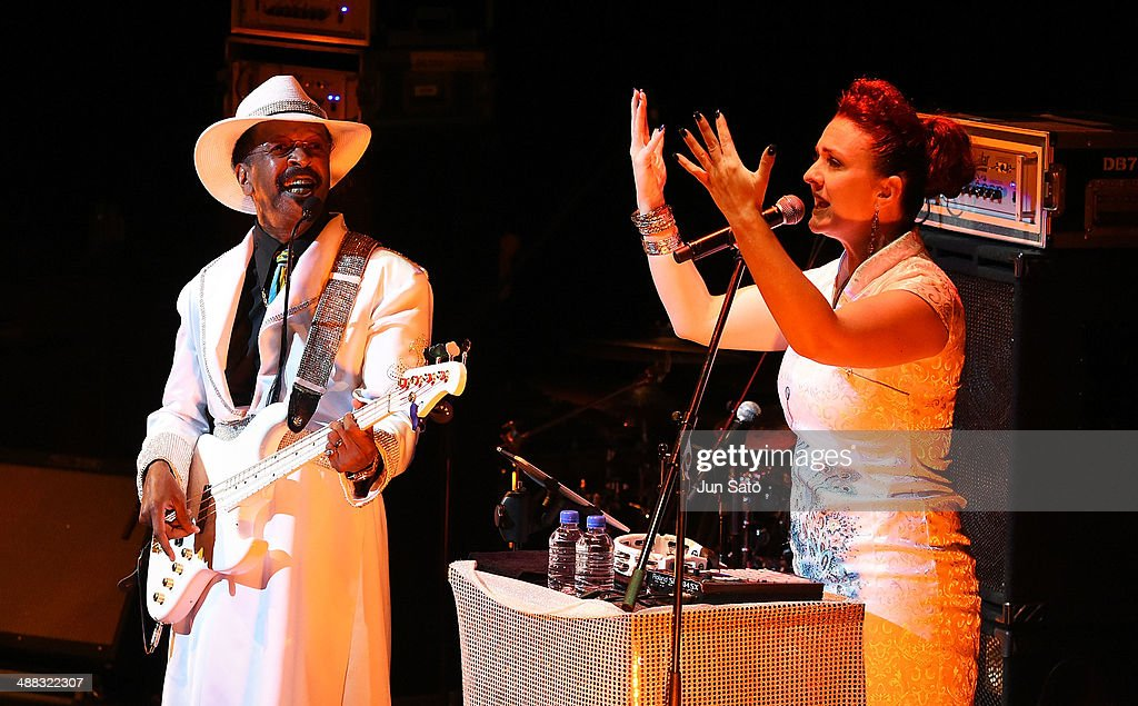 Larry Graham and Ashling Biscuit-Cole perform at Billboard Live on May 5, 2014 in Tokyo, Japan.