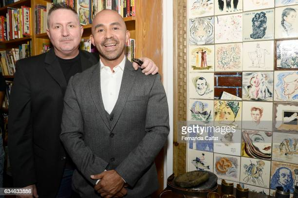 Larry Haack and Raul Penaranda attend the Raul Penaranda presentation during New York Fashion Week at The Society Of Ilustrators on February 10 2017...