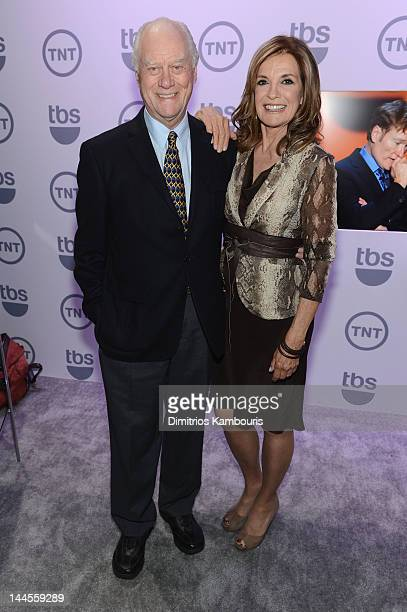 Larry Hagman and Linda Gray attend the TNT/ TBS Upfront 2012 at Hammerstein Ballroom on May 16 2012 in New York City 22362_003_0045JPG
