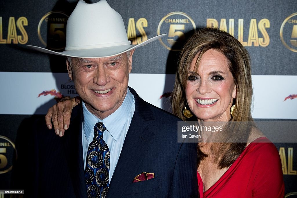 <a gi-track='captionPersonalityLinkClicked' href=/galleries/search?phrase=Larry+Hagman&family=editorial&specificpeople=210614 ng-click='$event.stopPropagation()'>Larry Hagman</a> and Linda Grey attend the Channel 5 Dallas Launch Party at Old Billingsgate Market on August 21, 2012 in London, England.