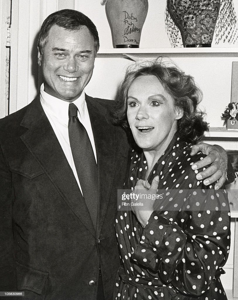 larry hagman and tammy grimes during 42nd street at winter garden in picture id105830986