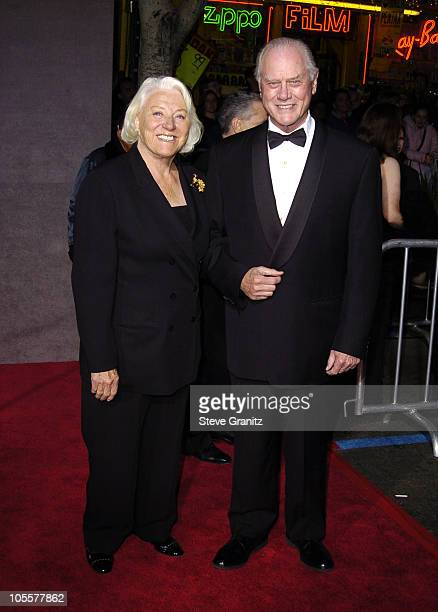 Larry Hagman and wife during 'Mary Poppins' 40th Anniversary and Launch of Special Edition DVD Arrivals at El Capitan Theatre in Hollywood California...