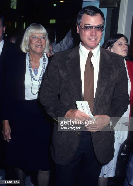 Larry Hagman and Wife Maj during Larry Hagman At The Musical 42nd Street 30 September 1980 at Winter Garden Theatre in New York City New York United...