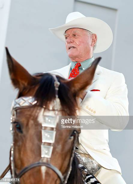 Larry Hagman arrives to the Larry Hagman And Linda Gray VIP Preview Party At Julien's Auction on June 1 2011 in Beverly Hills California
