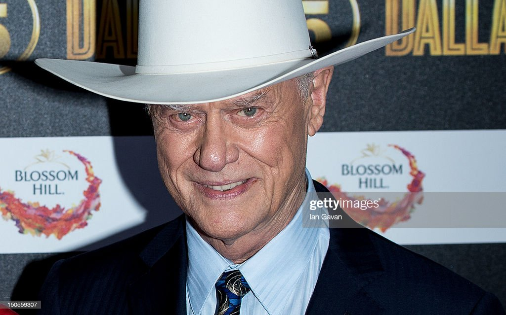Larry Hagman attends the Channel 5 Dallas Launch Party at Old Billingsgate Market on August 21, 2012 in London, England.