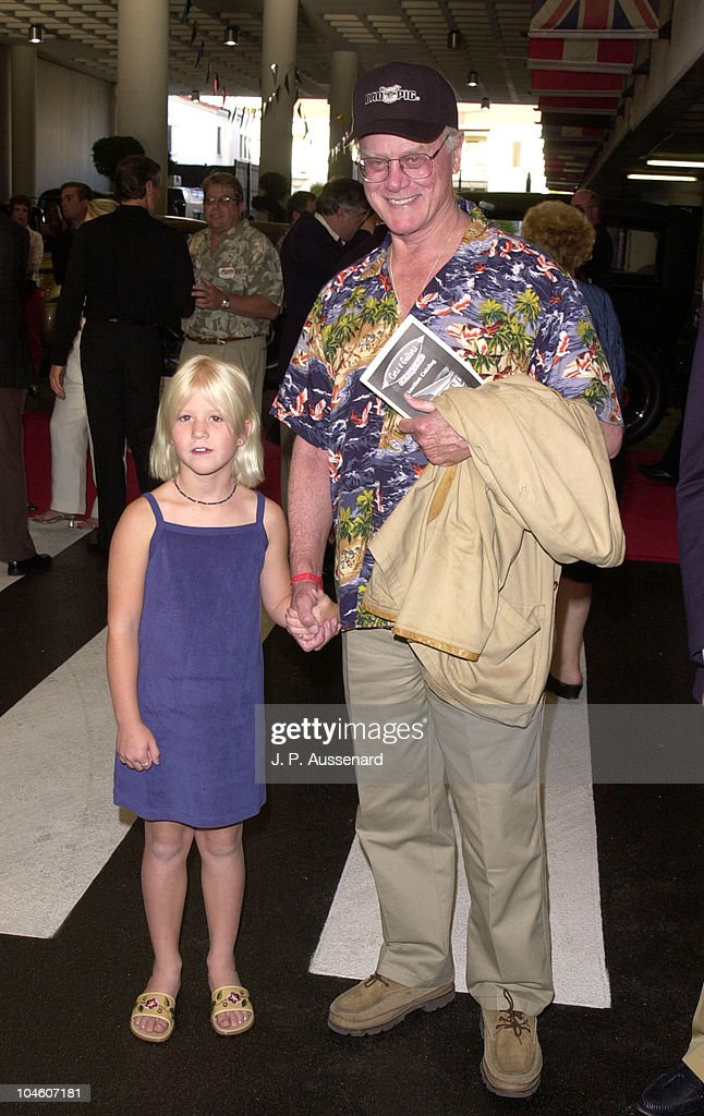 Larry Hagman & Grandaughter Rebecca during 4th Cars & Stars Gala at Petersen Automotive Museum in Los Angeles, California, United States.