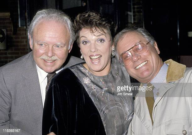Larry Hagman Tyne Daly Caroll O'Connor during Actor's Fund Benefit at Gingerman Restaurant in New York City New York United States