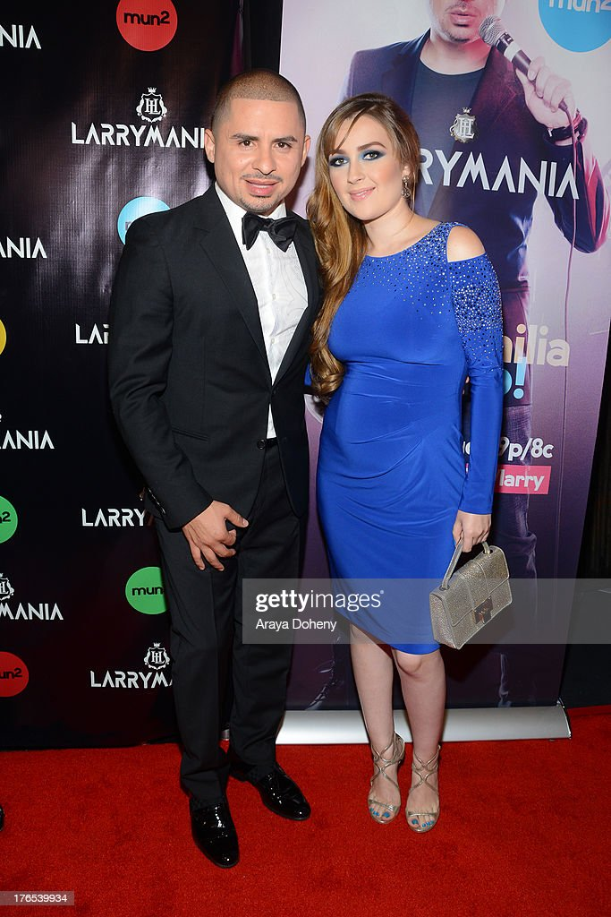 <a gi-track='captionPersonalityLinkClicked' href=/galleries/search?phrase=Larry+Hernandez&family=editorial&specificpeople=6918528 ng-click='$event.stopPropagation()'>Larry Hernandez</a> and Kenia Ontiveros attend 'Larrymania' Season 2 Premiere Launch Party at SupperClub Los Angeles on August 14, 2013 in Los Angeles, California.