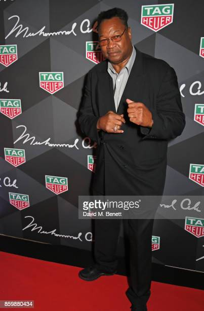 Larry Holmes attends the launch of the TAG Heuer Muhammad Ali Limited Edition Timepieces at BXR Gym on October 10 2017 in London England