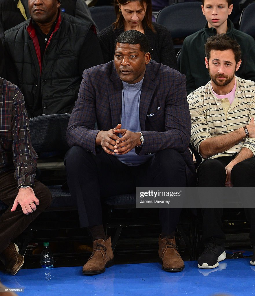 Larry Johnson attends the Phoenix Suns vs New York Knicks game at Madison Square Garden on December 2, 2012 in New York City.