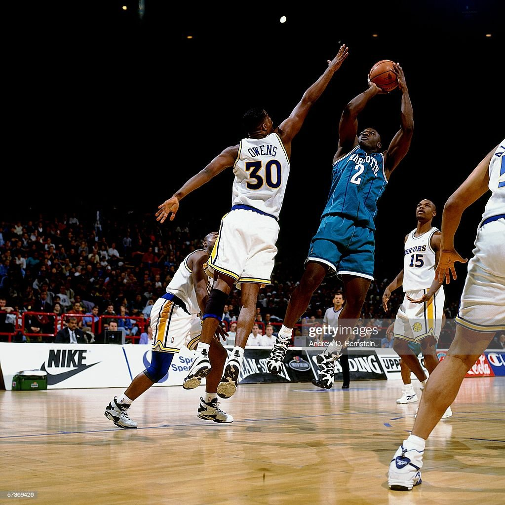 1994 Exhibition Game in Paris France Charlotte Hornets v Golden