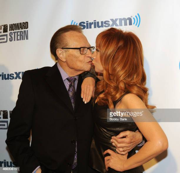 Larry King and Kathy Griffin at SiriusXM's 'Howard Stern Birthday Bash' at Hammerstein Ballroom on January 31 2014 in New York City