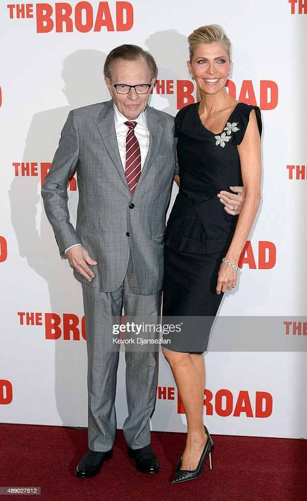 Larry King and Shawn King attend The Broad museum's inaugural celebration September 18, 2015, in Los Angeles, California.