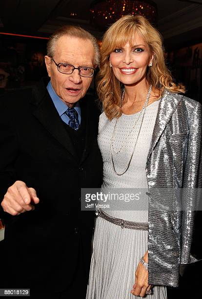 Larry King and Shawn SouthwickKing attend Diana Jenkins and Neuro Brands present Room 23 at the Peninsula Hotel on February 17 2009 in Los Angeles...
