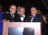 Larry King Tony Bennett and Robert De Niro speak as the Friars Club Honors Tony Bennett With The Entertainment Icon Award Inside at New York Sheraton...